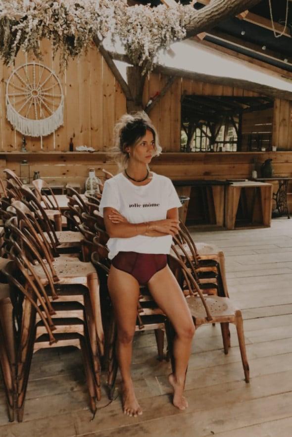 """Dessus-dessous tee shirt """"Jolie môme"""""""